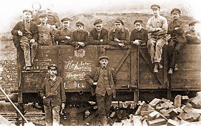 Bahnarbeiter vor 1914