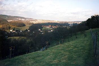 Blick von Erichs Kletterbaum