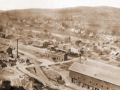 Bahnhof Letmathe im Ortsteil Genna (ca.1860)